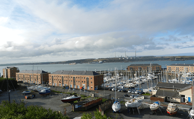 Apartments by the harbour in Milford Haven